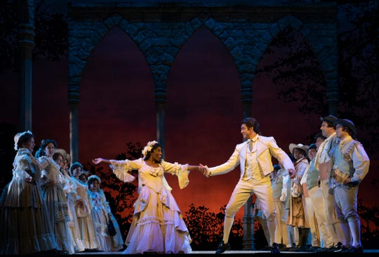 """Ariana Douglas and Calvin Griffin dance  in Florentine Opera's """"The Marriage of Figaro."""""""