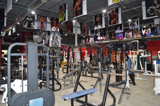 The ceilings of MetroFlex MKE are lined with giant pictures of athletes who inspire owner Jake Perkins.