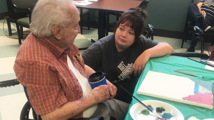 Veterans and art: ULM students bring color to living heroes