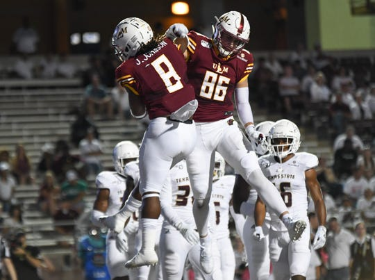 First-team All-Sun Belt tight end Josh Pederson (86) and second-team All-Sun Belt running back Josh Johnson are ULM's most productive returnees on offense.