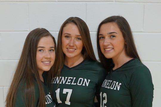 Senior triplets Amanda, Allison and Ashley Sienicki are all part of the Kinnelon varsity volleyball team.