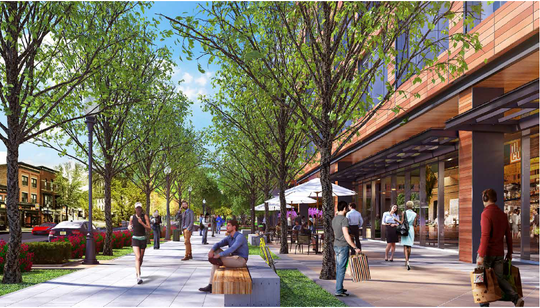 M Station promenade project rendering for Morristown.