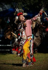 Cultural dancing at the Native American Indian Association powwow at Long Hunter State Park in 2018.