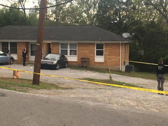 Nashville police on scene of a shooting that killed one person and injured another overnight Friday Oct. 11, 2019 on Buena Vista Pike