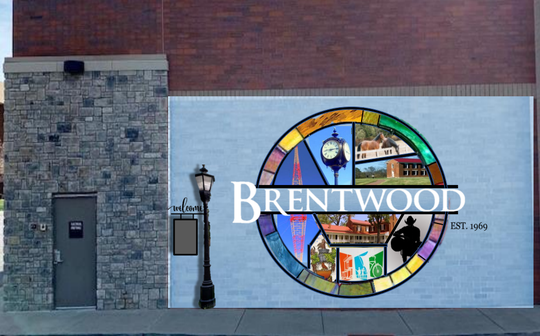 A rendering of the public mural that's underway in Brentwood. It was designed and painted by artist April James.