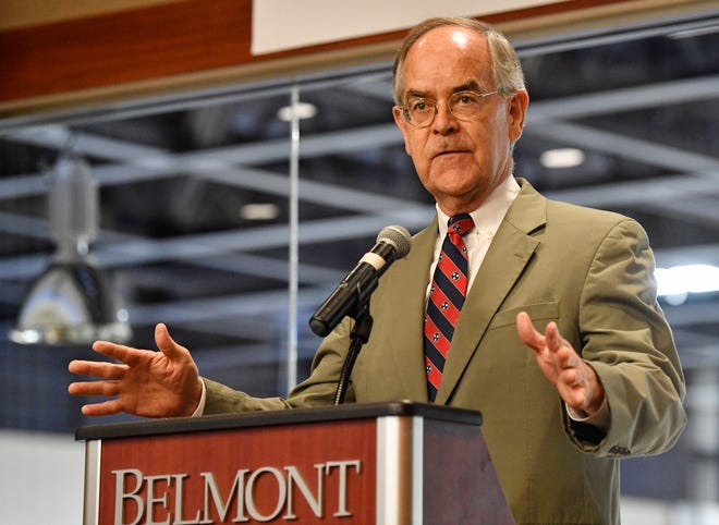 U.S. Rep. Jim Cooper speaks at the 2020 Presidental Debate announcement Friday, Oct. 11, 2019, at Curb Event Center at Belmont University in Nashville, Tenn.
