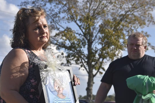 Rhonda and Jerry Clemons gifted East Cheatham Elementary School with a framed photo of her daughter, Haleigh Peden-Clemons, who died in February at age 5 after battling a rare cancer for a second time.
