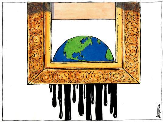 Earth's oil use.