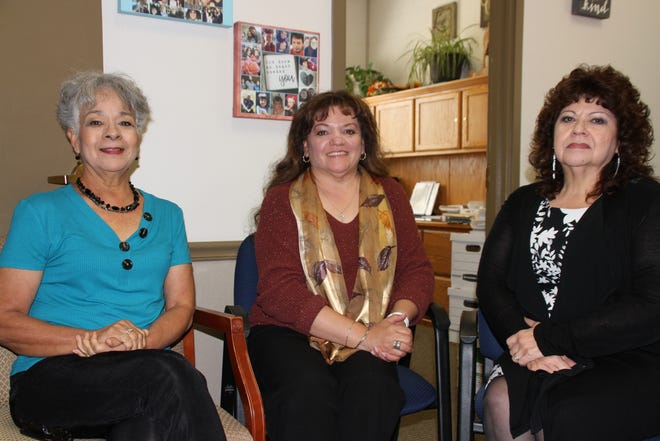 From left, Luna County Treasurer Gloria Rodriguez, Assessor Michelle Holguin and Clerk Andrea Rodriguez.