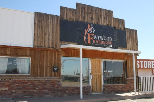 The former Hitch-N-Post turned Fatwood BBQ restaurant on White Sands Boulevard.