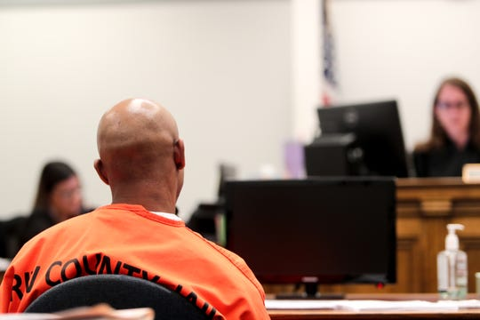 Elijah Hall listens to court proceedings on Wednesday, October 9, 2019 at Indio Juvenile Courthouse in Indio, Calif.
