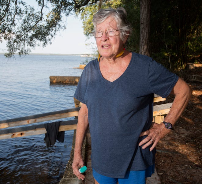 Jackie Lane, a longtime Pensacola resident, and environmentalist has been keeping tabs on the water quality of the Perdido Bay for decades.