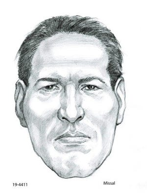 A forensic sketch of a man whose remains were found outside of Wickenburg in May.