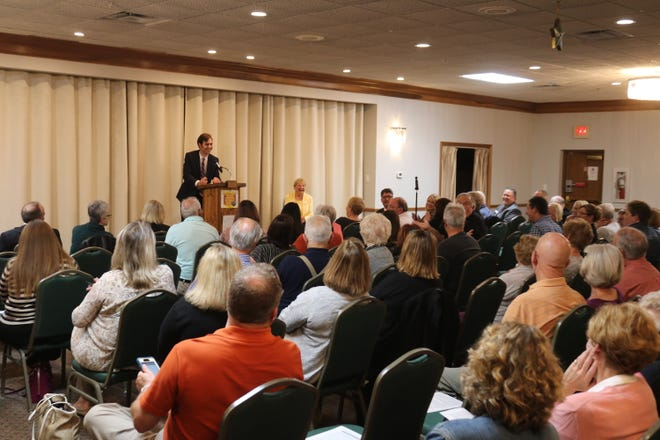 """The Port Clinton chapter of the Business and Professional Women's Club and the Port Clinton Area Chamber of Commerce partnered to host the annual """"Candidate's Night"""" event at the Elks on Thursday night."""