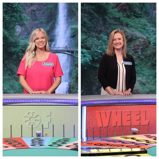"""Jennifer Hedrick of Algonac and Emily Leach of Ira Township both competed on """"Wheel of Fortune"""" this week."""