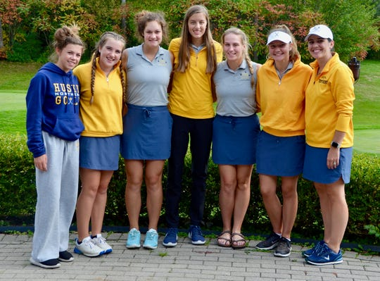The Port Huron Northern girls golf team placed second at the Division 2 regional on Thursday, Oct. 10, 2019, at Farmington Hills Golf Club. Pictured are (l-r) Maddy Hemby, Madison Bajis, Isabella Murray, Megan Schumacher, Karly Ward, Allie Warren and coach Jessie Freed.