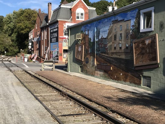 A man tried to jump onto the Steam Into History train in this location just south of Water Street in Glen Rock. He lost a leg in the accident, officials said.