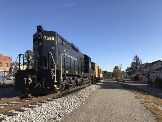 A man who tried to jump onto the Steam Into History excursion train as it passed through Glen Rock Thursday night lost his left leg when the locomotive ran over him, according to a county spokesman.