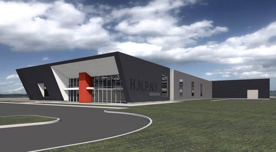 A rendering shows an expansion to Henny Penny's Eaton, Ohio, facilities.