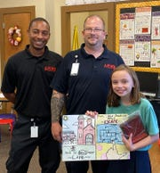 Fourth grader Mary Cathryn Darby from Santa Rita Elementary won first place for her entry.