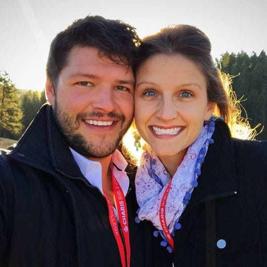 Tyler Ethridge and his wife, Danielle, at Charis Bible College in Woodland Park, Colorado.