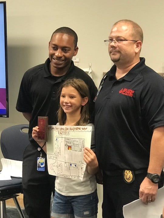 Fifth grader Celes Cole from Fort Concho Elementary won third place with  her entry.