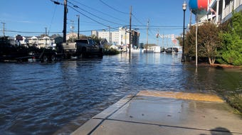 Ocean City's streets were overflown with water on Oct. 11 due to coastal flooding. Warnings for the surrounding areas are in effect through the weekend.