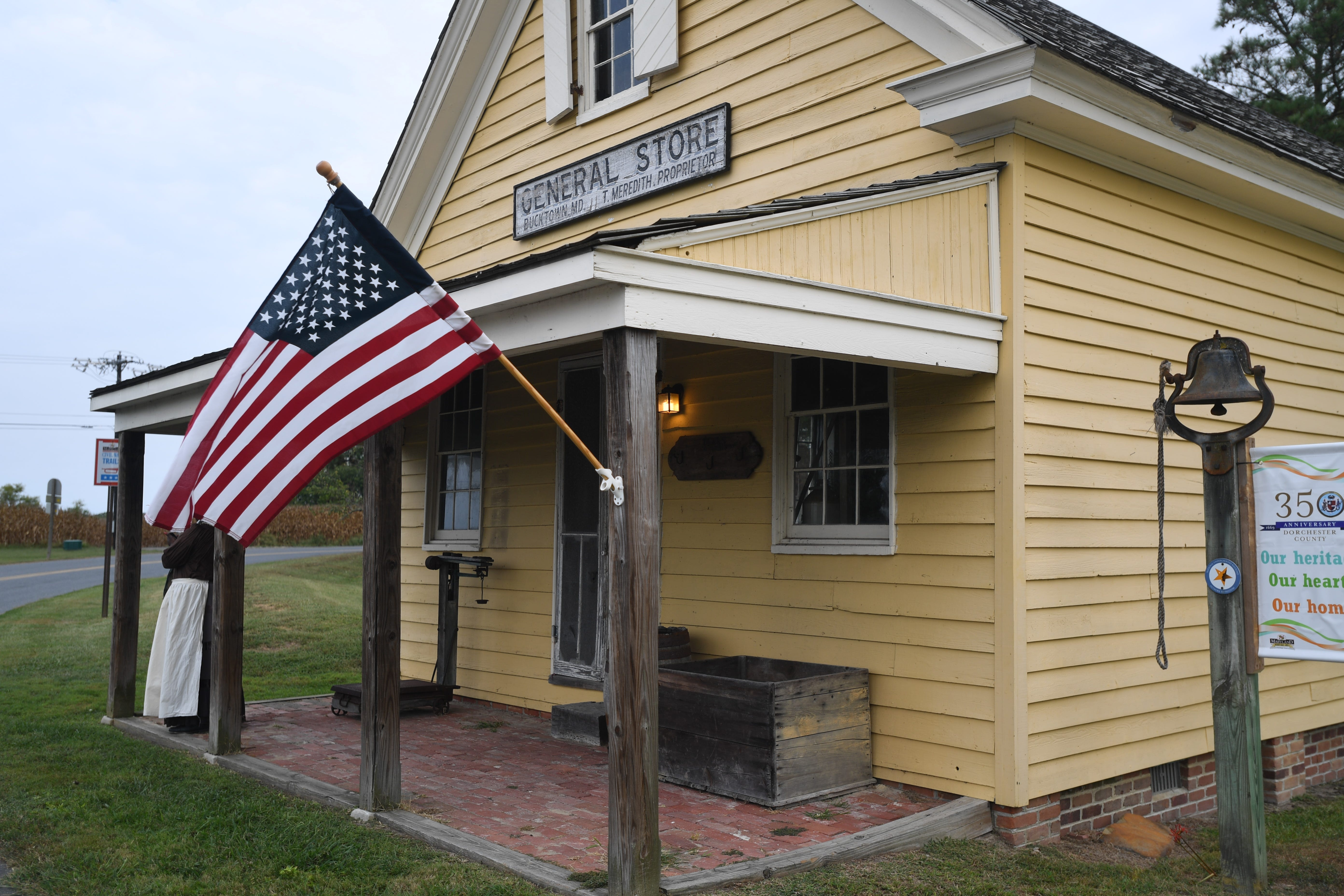 The Bucktown General Store, which still stands in Cambridge, Maryland, is where a young Harriet Tubman refused to help capture an escaped slave. She was struck in the head during the incident and suffered a lifelong brain injury.