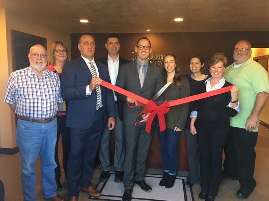 The Dell Rapids Chamber of Commerce held a ribbon cutting at Edward Jones on Oct. 8. Attending included (left-to-right): Mayor Tom Earley, Barb Mergen, Cory Van Duyn, Chamber President Dan Ahlers, Rob Shoup, Nikki Shoup, Chamber Secretary Marlana Wenzel, Sue Zacher, and Chamber Board Member Mark DeGraw