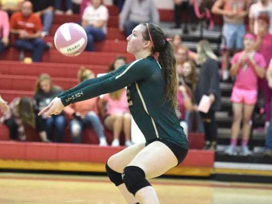 Wilson Memorial's Cassidy Davis returned to the volleyball court this year after an injury cut her junior season short.