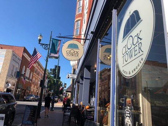The Clocktower Eats and Sweet on West Beverley Street in downtown Staunton.