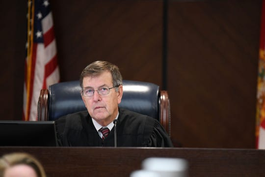 Leon Circuit Judge James C. Hankinson acknowledges the jury's guilty verdict against Sigfredo Garcia in the Dan Markel murder trial. Jurors convicted Garcia of first-degree murder but deadlocked on charges against Katherine Magbanua.