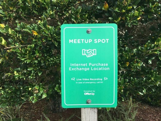 Located outside Port St. Lucie Police Department, these meetup spots are designed to be a safe place to meet someone selling an item online.