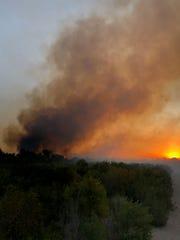 The Olivas Fire near Ventura started Friday morning.