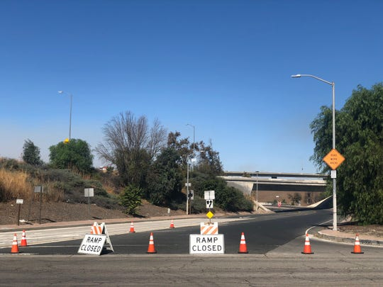 A ramp to the 5 Freeway in Pacoima is closed Friday, Oct. 11, 2019.