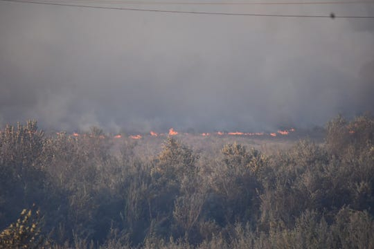A fire erupted early Friday morning in the Santa Clara River bottom near Ventura. Spot fires could be seen from the Victoria Avenue bridge near Gonzales Road.
