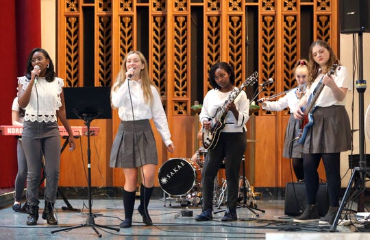 Ferocity from Young at Arts perform at the inaugural Westchester County International Day of the Girl conference at Manhattanville College in Purchase Oct. 11, 2019. Over 400 students from 20 school districts across Westchester attended the event, titled Taking Charge of Your Future. It was hosted by the Westchester County Youth Bureau in conjunction with the Women's Leadership Institute at Manhattanville and several other groups to inspire young women to take an active role in their personal development and their future.