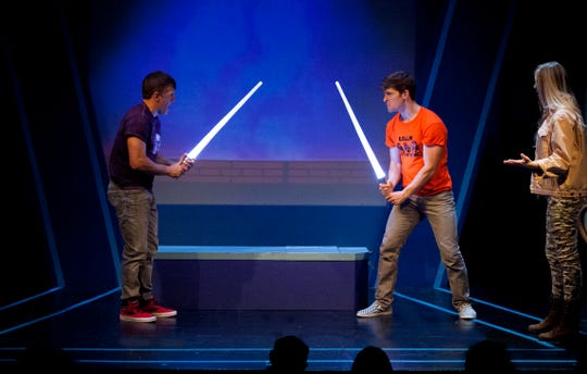 """Scott Foster and Taylor Crousore play their namesakes in """"A Musical About Star Wars."""""""