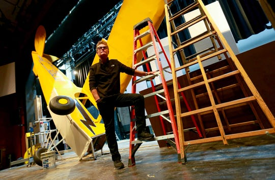"Harry Hamlin stands on the set of ""One November Yankee"" at the Delaware Theartre Company where he will star next to Stefanie Powers in Joshua Ravetch's new play exploring the human connection brought on by tragedy in the aftermath of a plane crash that ripples across the lives of the characters. The play will run October 23 - November 10, 2019."