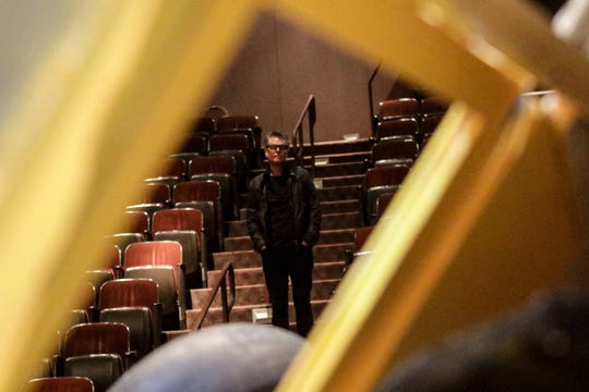 "Harry Hamlin looks over the stage of the Delaware Theatre Company, where he will be starring in ""One November Yankee"" alongside Stefanie Powers Oct. 23-Nov. 10, 2019."