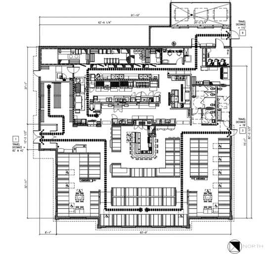 The inside of the building will feature mostly booth seating, according to preliminary plans.