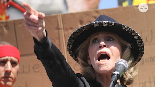 Jane Fonda arrested at climate change protest she organized on Capitol Hill
