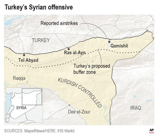 With airstrikes and artillery, Turkey has launched an offensive aimed at crushing Kurdish fighters in northern Syria.