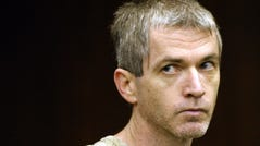 Charles Cullen, 43, of Bethlehem, Pa., a former nurse who claims to have killed 30 to 40 patients since 1987, was charged with murder in Superior Court in Somerville, N.J. Monday Dec. 15, 2003. Cullen, of Bethlehem, Pa., was arrested Friday charged with murder in the death of a Roman Catholic clergyman who was a patient at Somerset Medical Center. He was also charged with the attempted murder of a 40-year-old woman at the same hospital. (AP Photo/ Kathy Johnson/Pool) ORG XMIT: WXS101