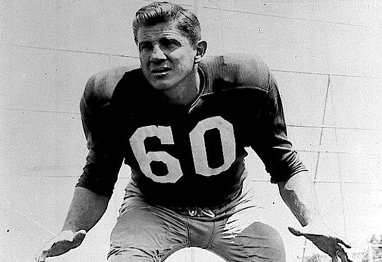 Chuck Bednarik was a two-time NFL champion, a six-time First Team All-Pro and played in eight Pro Bowls.