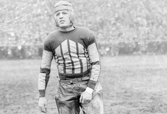 Red Grange was a running back with the Chicago Bears and New York Yankees. He was inducted into the Pro Football Hall of Fame in 1963.