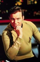 """Captain Kirk (William Shatner). commander of the Starship Enterprise, on """"Star Trek"""""""