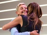 Ellen DeGeneres and Jennifer Aniston attend Variety's Power of Women presented by Lifetime on October 11.