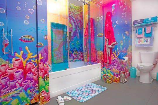 Bathroom in the Lisa Frank Flat.