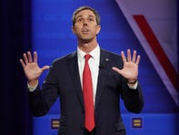 LOS ANGELES, CALIFORNIA - OCTOBER 10: Democratic presidential candidate, former U.S. Rep. Beto O'Rourke (D-TX) speaks at the Human Rights Campaign Foundation and CNN presidential town hall focused on LGBTQ issues on October 10, 2019 in Los Angeles, California. It is the first Presidential event broadcast on a major news network focused on LGBTQ issues.  (Photo by Mario Tama/Getty Images) ORG XMIT: 775317371 ORIG FILE ID: 1180349274